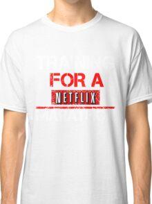 TRAINING FOR A NETFLIX MARATHON - Saiyan Style Black Classic T-Shirt