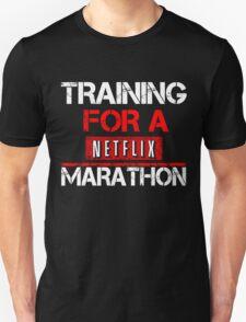 TRAINING FOR A NETFLIX MARATHON - Saiyan Style Black Unisex T-Shirt
