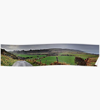 Panorama of Donegal Ireland Poster