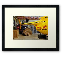 Elephant Tracking Helicopter Framed Print
