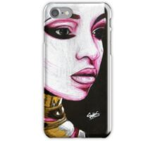 Tinashe Colored Pencil Warrior Drawing iPhone Case/Skin