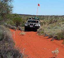 Cresting the dune, Canning Stock Route by BigAndRed