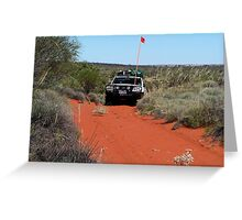 Cresting the dune, Canning Stock Route Greeting Card