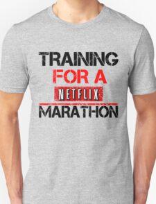 TRAINING FOR A NETFLIX MARATHON - Saiyan Style Grey T-Shirt