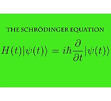 the Schrödinger equation Photographic Print