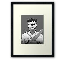 Lizard Chef Framed Print