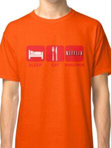 EAT SLEEP MARATHON - NETFLIX Classic T-Shirt