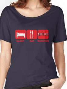 EAT SLEEP MARATHON - NETFLIX Women's Relaxed Fit T-Shirt