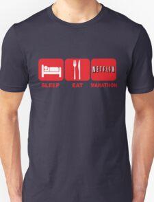 EAT SLEEP MARATHON - NETFLIX T-Shirt