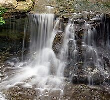 Waterfall at Indiana's McCormick's Creek State Park by Kenneth Keifer
