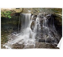Waterfall at Indiana's McCormick's Creek State Park Poster