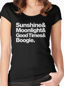 Sunshine, Moonlight & Boogie Ampersand Helvetica Getup Women's Fitted Scoop T-Shirt