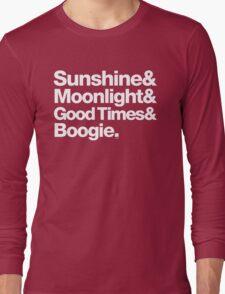 Sunshine, Moonlight & Boogie Ampersand Helvetica Getup Long Sleeve T-Shirt