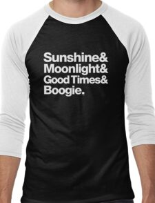 Sunshine, Moonlight & Boogie Ampersand Helvetica Getup Men's Baseball ¾ T-Shirt