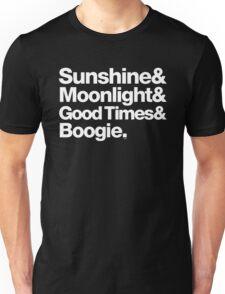 Sunshine, Moonlight & Boogie Ampersand Helvetica Getup Unisex T-Shirt