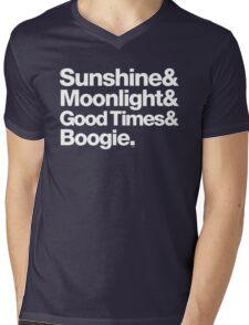 Sunshine, Moonlight & Boogie Ampersand Helvetica Getup Mens V-Neck T-Shirt