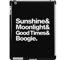 Sunshine, Moonlight & Boogie Ampersand Helvetica Getup iPad Case/Skin