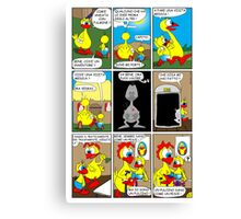 """Rick the chick  """"THE MAGIC SHELL (la visita medica) parte 6"""" Canvas Print"""