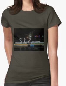 Swans on the Water Womens Fitted T-Shirt