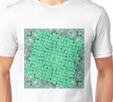 Polka dots and shadows on green Unisex T-Shirt