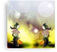 Fantasy Ladies in Reflection Canvas Print