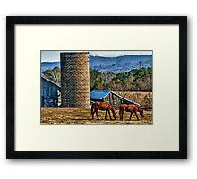 Virginia Horse Farm Framed Print