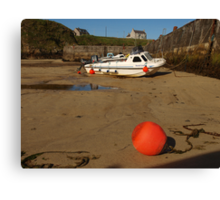 Around the Harbour Series - (1) Port Nis Low Tide Canvas Print
