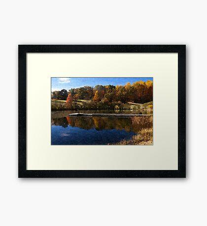 Fall Pond Framed Print