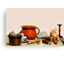 The Pantry Table Canvas Print