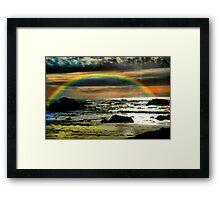 Pacific Rainbow Framed Print