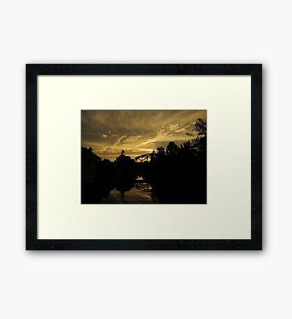 City Gold Framed Print