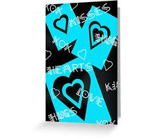Hearts Kisses Hugs Love XOX Greeting Card