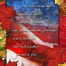 Patriotic Thanksgiving Card by William Martin