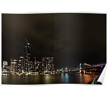 Brisbane City Lights Poster