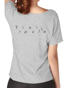 Fripouille Messed Up Black Women's Relaxed Fit T-Shirt