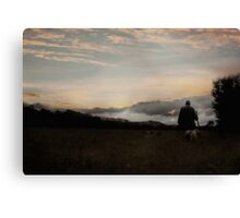 Last Walk of the Day Canvas Print