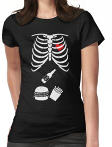 Pregnancy Funny Couple T-shirt Halloween Costume T-shirts Womens Fitted T-Shirt