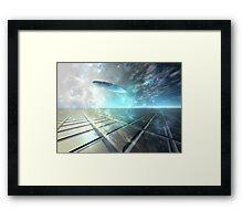 Warp Framed Print