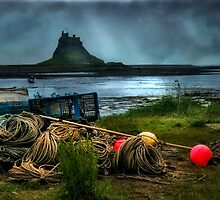 Fishing gear at Lindisfarne by Tarrby