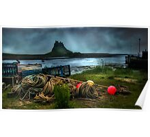 Fishing gear at Lindisfarne Poster