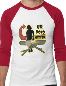 UR  FOTO HERE! Men's Baseball ¾ T-Shirt