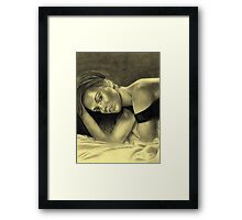 Portrait of a sexy woman v01 Framed Print