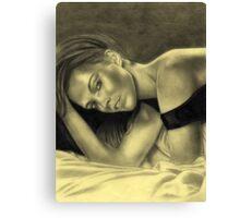 Portrait of a sexy woman v01 Canvas Print