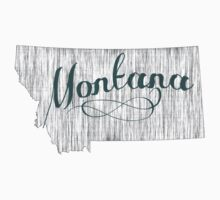Montana State Typography Kids Tee