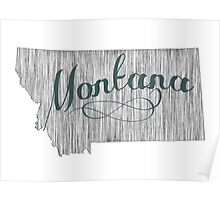 Montana State Typography Poster