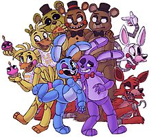 FNAF- The Gang's All Here Photographic Print