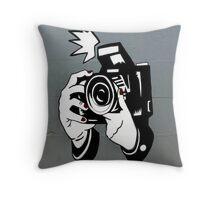 Graffiti Camera Throw Pillow