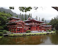 Byodo-In Temple Oahu  Photographic Print