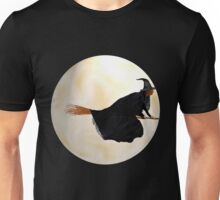 Whitch Flight on Halloween Night Unisex T-Shirt