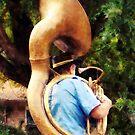 Sousaphone Marching Away by Susan Savad